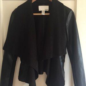 Bar III Small Faux Leather Coat